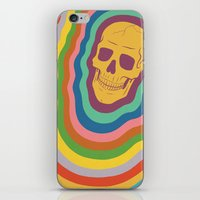 Trippy Rainbow Skull iPhone & iPod Skin