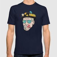 Walter Mens Fitted Tee Navy SMALL