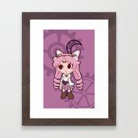 Steampunk Chibimoon - Sa… Framed Art Print