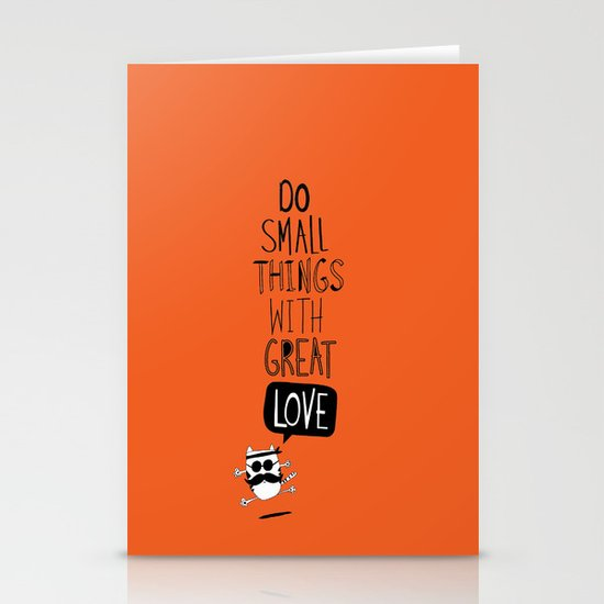 do small things with great love Stationery Card