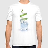 GLASSAP Mens Fitted Tee White SMALL