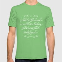 Proverbs: A Bird In The … Mens Fitted Tee Grass SMALL