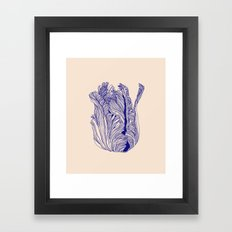 Dark tulip Framed Art Print