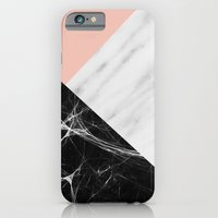 iPhone Cases featuring Marble Collage by cafelab