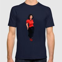 Red/Black Girl Mens Fitted Tee Navy SMALL