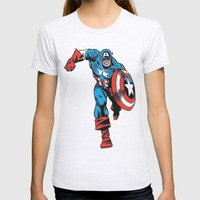 Avenger: Cap' Womens Fitted Tee Ash Grey SMALL