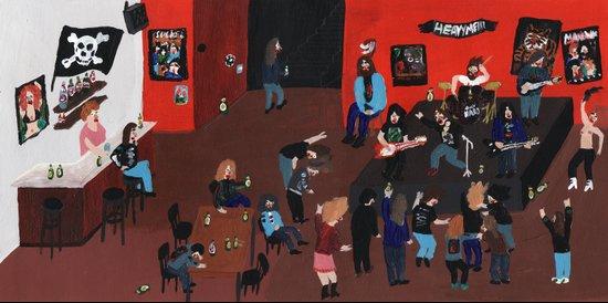 Metal Concert Art Print