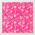 floral ornement on pink Canvas Print