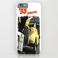 iPhone & iPod Case featuring Classic yellow roadster by Vorona Photography