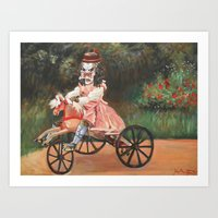 Predator On A Wooden Horse Art Print