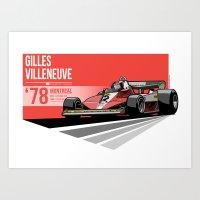 Gilles Villeneuve - 1978… Art Print