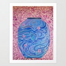 Oriental Vase Art Print