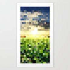 Pixel Sunset Art Print