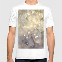 Crystal2 Mens Fitted Tee White SMALL