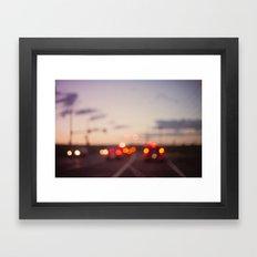 highway at dusk Framed Art Print