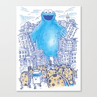 Monster In The City Canvas Print