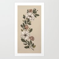Art Print featuring Floral Laurel by Jessica Roux