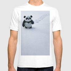 Zeke the Zen Panda White Mens Fitted Tee SMALL