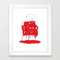 More Blood Please Framed Art Print
