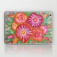 Orange Fantasy Flowers Laptop & iPad Skin