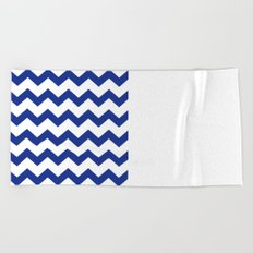 Blue Chevron Beach Towel