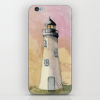 Lighthouse At Sunset iPhone & iPod Skin