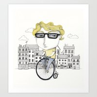 Biking Art Print