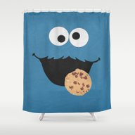 Cookie Monster - Minimal… Shower Curtain