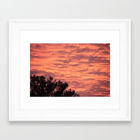 Burning Sunrise Framed Art Print