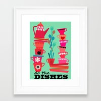 do the dishes! Framed Art Print