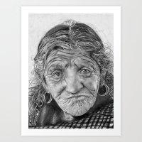 Spiderweb Traditional Portrait Print Art Print