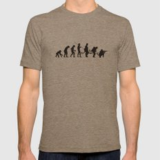 Involution! Mens Fitted Tee Tri-Coffee SMALL