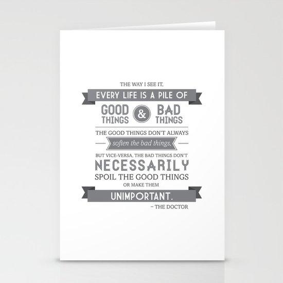 Good Things & Bad Things (gray) Stationery Card