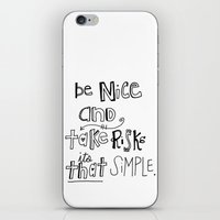 Nice + Risks = Happiness  iPhone & iPod Skin