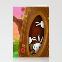 Bunny Tree Stationery Cards