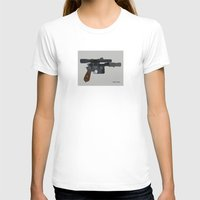 Shoot First. Womens Fitted Tee White SMALL