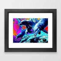 Dolphins 3 Framed Art Print