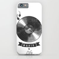 iPhone & iPod Case featuring music is ...life  (vintage version) by mauro mondin