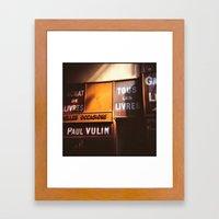 Tous les Livres Framed Art Print