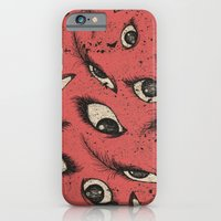iPhone & iPod Case featuring Pink Eye by Phoebe Dowdle