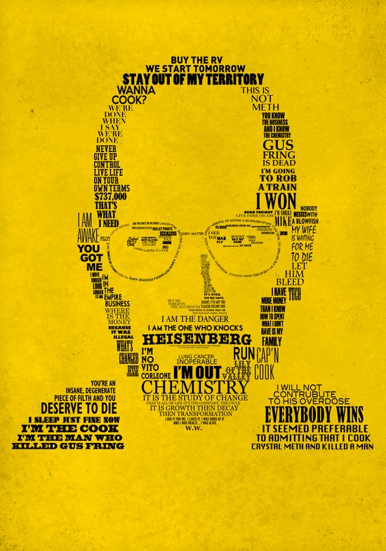 Breaking Bad:  Walter White Canvas Print