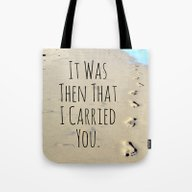 Tote Bag featuring Footprints by Tiffany Dawn Smith