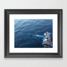 Rock In The Sea Framed Art Print
