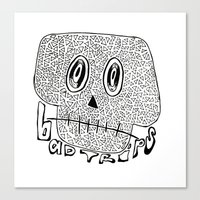 Canvas Print featuring Bad Trips by Isa Gutierrez