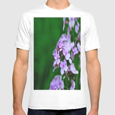 April Showers Bring.... Mens Fitted Tee SMALL White