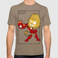 IRON LION - FAN ART AVENGER IRON MAN Mens Fitted Tee Tri-Coffee SMALL