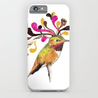 iPhone & iPod Case featuring Humming Bird Hairstyle by TatiAbaurreDesigns