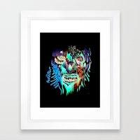 Face Illustration 3 Framed Art Print