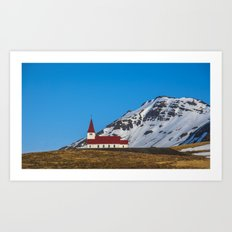 Vik Church Iceland Art Print