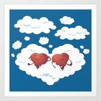 DREAMY HEARTS Art Print